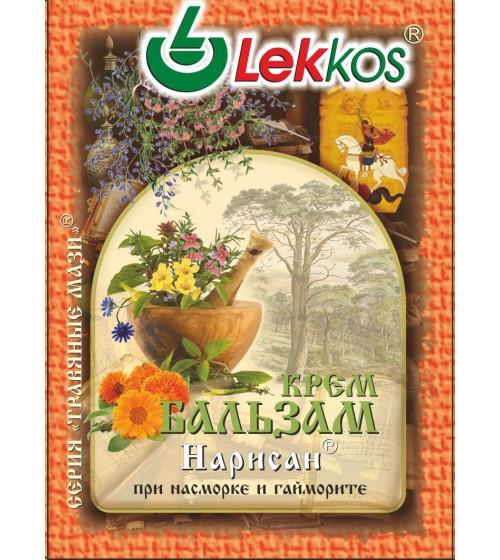 Крем-бальзам ЛЕККОС Нарисан при насморке и гайморите 10 гр.