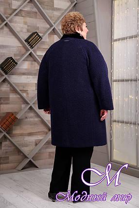 Темно-синее женское зимнее пальто больших размеров (р. 64-78) арт. 1097 Тон 28, фото 2