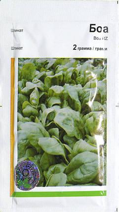 Семена шпината Боа (Rijk Zwaan/Агропак+) 2 г — ранний (45 дней), холодоустойчивый, листья округлые, фото 2