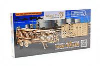 Бесплатная доставка. Механический деревянный конструктор «Wood Trike» - Прицеп цистерна
