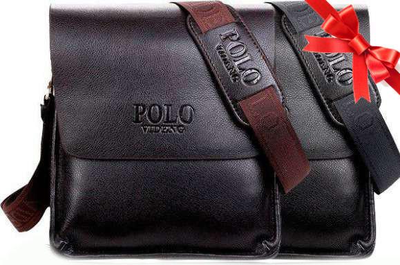 Мужская наплечная повседневная сумка из эко-кожи от POLO Classic Collection 576-2