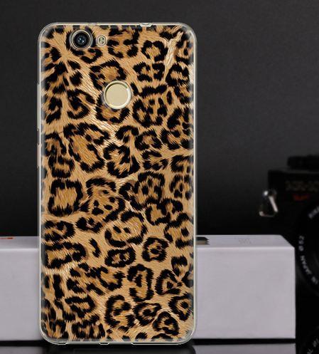 Оригінальний чохол бампер для Huawei Nova з картинкою Леопардовий принт
