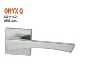 Дверная ручка VDS  Onyx Q  хром-сатин