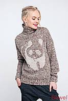 Теплый зимний женский свитер