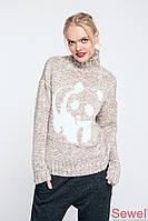 Модный зимний женский свитер