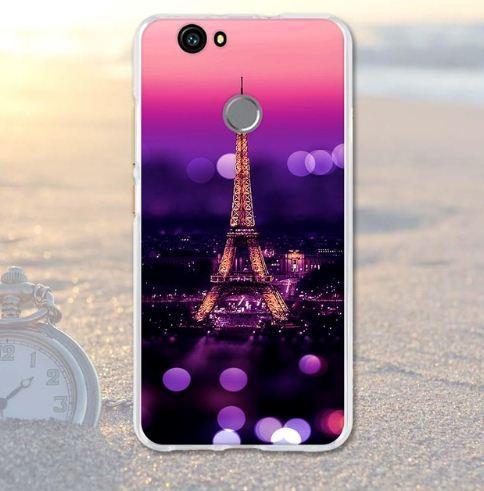 Силіконовий чохол бампер для Huawei Nova з картинкою Париж вночі