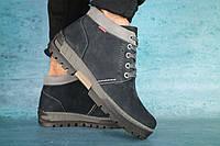 Мужские зимние ботинки синий нубук  Norman р. 44, фото 1