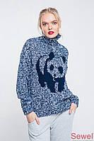 Зимний вязаный женский свитер