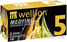 Универсальные иглы Wellion MEDFINE plus для инсулиновых шприц-ручек 5 мм ( 31G x 0,25 мм)