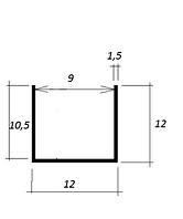 ODF-04-02-03-L1500 Анодированный профиль алюминиевый 12*12