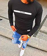 Свитшот чёрный Prada logo | Премиум Бренд
