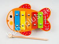 Деревянная игрушка Ксилофон, металлические пластины, 5 тонов MMT-MD0942