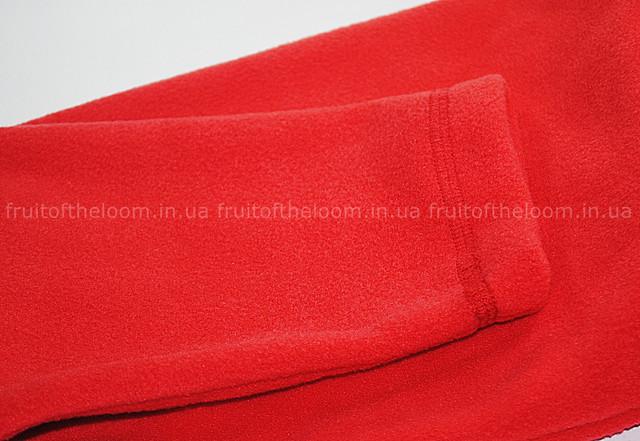 Красная мужская классическая флисовая кофта на замке