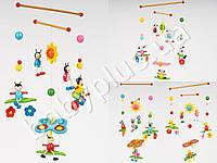 Деревянная игрушка Подвеска 52см, 5 подвесок MMT-MD0990