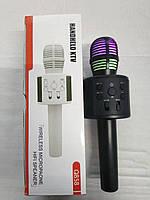 Беспроводной Bluetooth караоке Q858 со встроенным динамиком, MP3 плеером и FM-радио, светодиодная подсветка