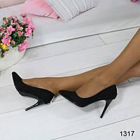 Туфли женские классические лодочки черные, женская обувь