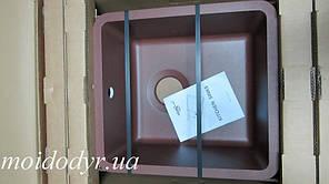 Гранитная мойка под столешницу AquaSanita Arca SQA 101 (501 copper)