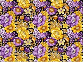 Бязь набивная плательные диз: 20-0282 yellow violet