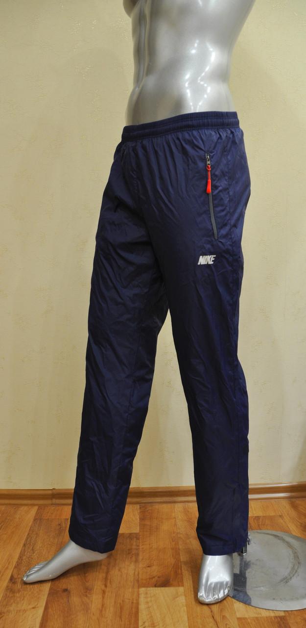Мужские спортивные штаны Nike копия из плащевки на х/б подкладке