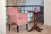 Мягкое кресло Манн, на деревянной основе, с подлокотниками