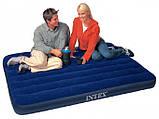 Надувной ортопедический матрас Intex 68758 Classic Downy Bed 137x191x22 см HN, фото 3