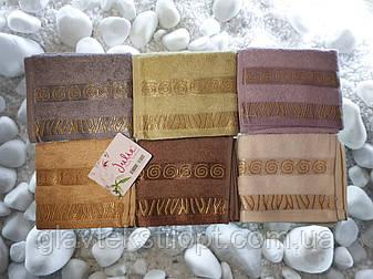 Бамбуковое полотенце 30*50 Julia Турция, фото 2