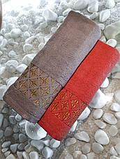 Махровий рушник 70*140 Julie Vip Cotton Туреччина, фото 3