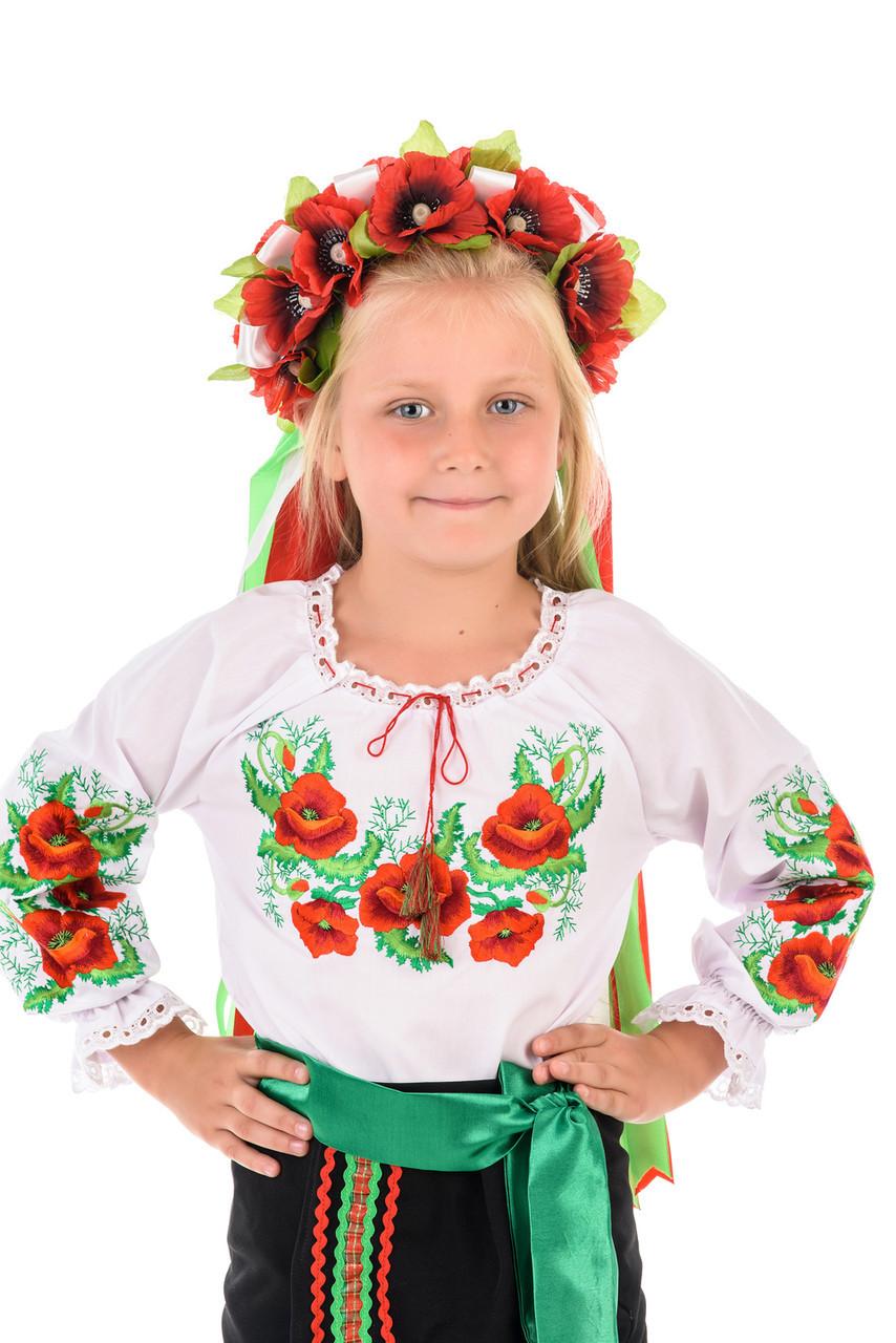 Детский костюм Вышиванка «Маки»