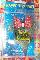 Свеча Минни Маус Happy birthday
