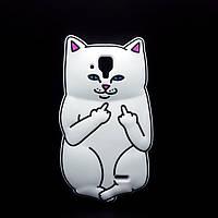 Резиновый 3D чехол Finger cat для Lenovo A536