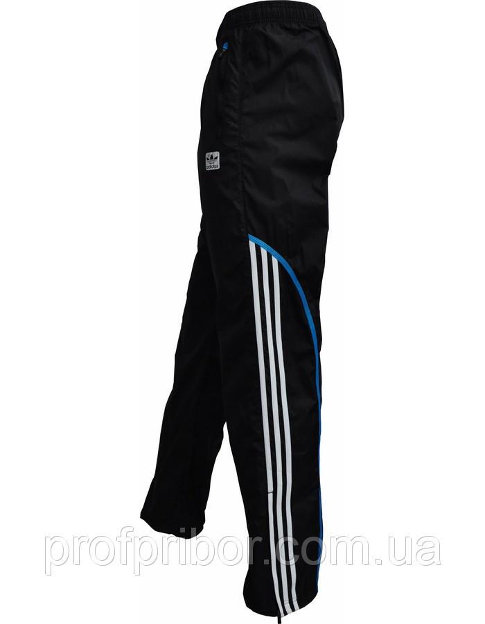 Мужские спортивные штаны Adidas из плащевки без подкладки копия