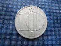 Монета 10 геллеров Чехословакия 1982
