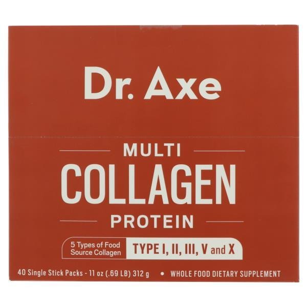 Dr. Axe, Multi Collagen Protein, 40 Single Stick Packets, 11 oz (312 g)