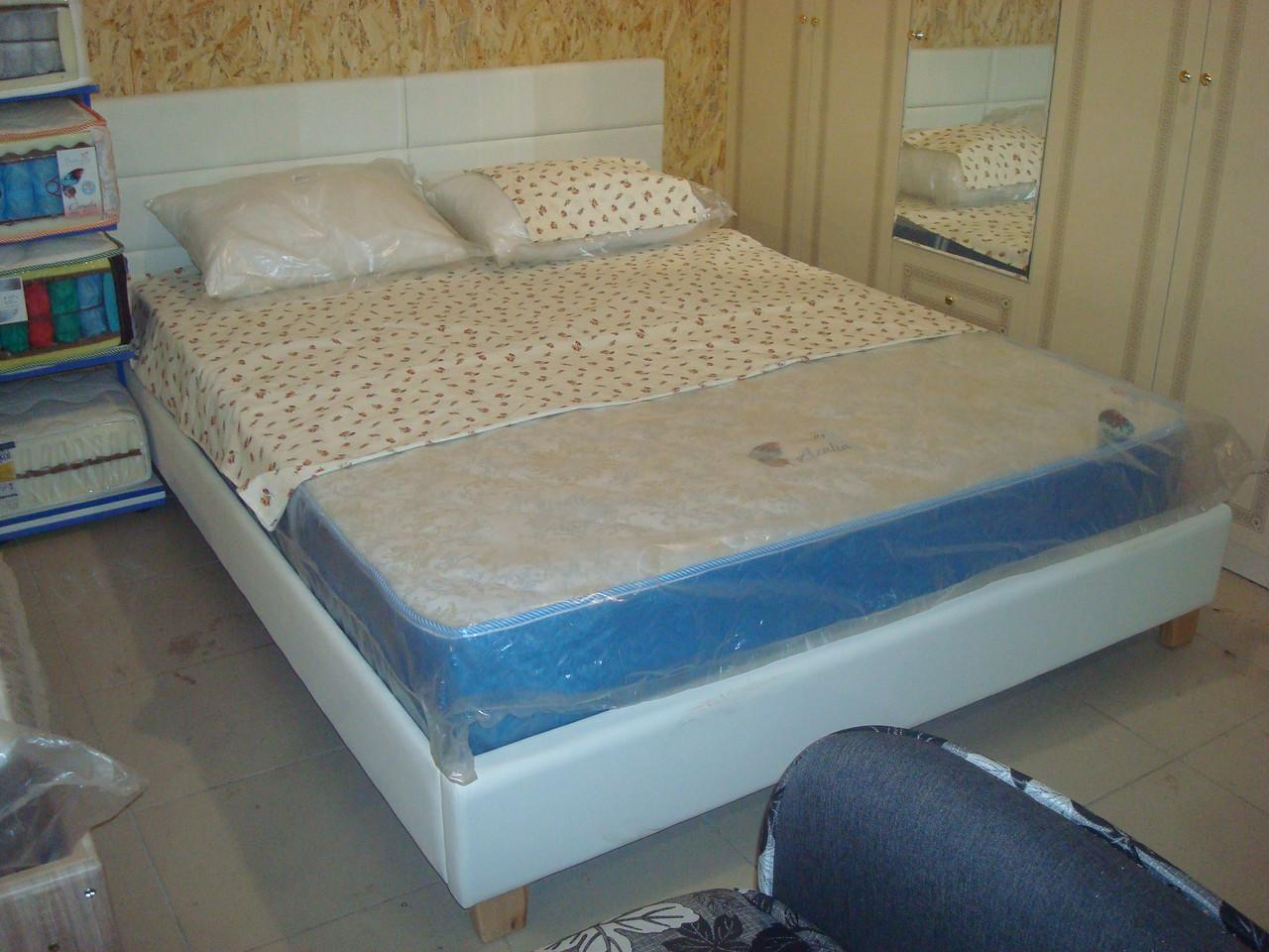 двуспальная кровать из экокожи джесика цена 4 679 грн купить в