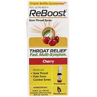 MediNatura, ReBoost, Sore Throat Spray, Cherry, 0.68 fl oz (20 ml)