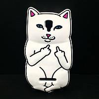 Резиновый 3D чехол Finger cat для Lenovo A1000