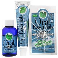 Oral Essentials, Whitening Strips, 28 Strips + Bonus Mouthwash & Toothpaste, 3 Piece Set