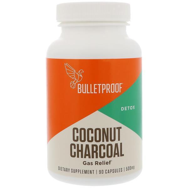 BulletProof, Кокосовый уголь, детоксикация, избавление от газообразования, 500 мг, 90 капсул
