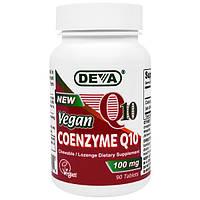 Deva, Веганский кофермент Q10, 100 мг, 90 таблеток