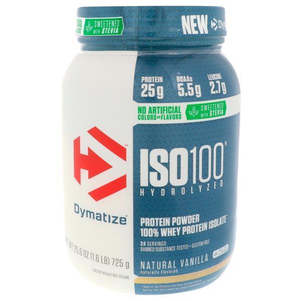 Dymatize Nutrition, ISO100 Hydrolyzed, Natural Vanilla, 1.6 lbs (725 g)
