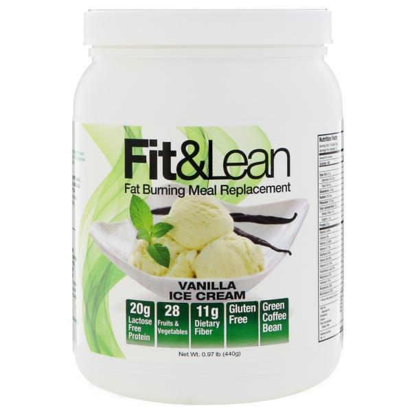 Fit & Lean, Fit & Lean, Fat Burning Meal Replacement, Vanilla Ice Cream, 0.97 lb (440 g)