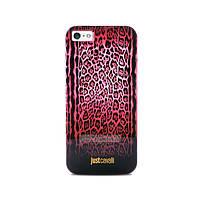 Чехол-накладкаPURO JUST CAVALLI Leopard Double Stripes for iPhone 5/5S Red (JCIPC5LEOPARD2RED)