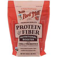 Bob's Red Mill, Белок и клетчатка, питательный состав с чиа и пробиотиками, без ароматизаторов, 453 г (16 унций)