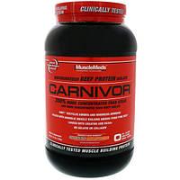 MuscleMeds, Carnivor, Полученный биотехнологически изолят говяжьего белка, Шоколад и арахисовое масло, 2,2 фута (1 008 г)