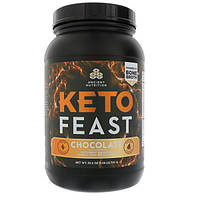 Ancient Nutrition, Keto Feast, Ketogenic Balanced Shake & Meal Replacement, Chocolate, 25.2 oz (715 g)