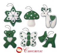 Набор с фетром Подарочный набор 5 лочные игрушки (Код: ФН-61)