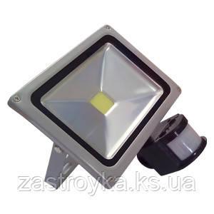 Прожектор светодиодный с датчиком движения, 20 Вт, 220В