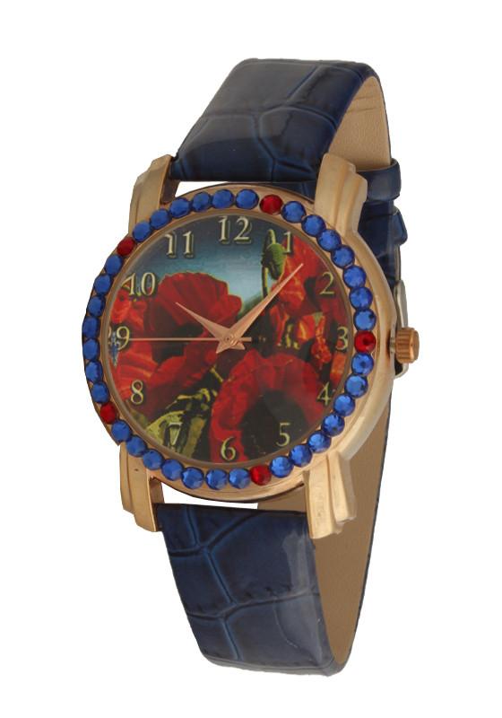 Часы женские дизайнерские с маками