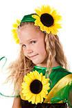 Детский костюм Подсолнух-девочка  для выступления, фото 2