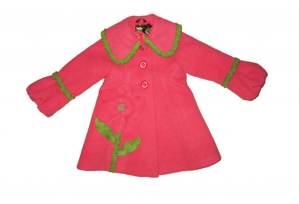 Пальто детское для девочки. Подсолнух. Рост 98 - 110